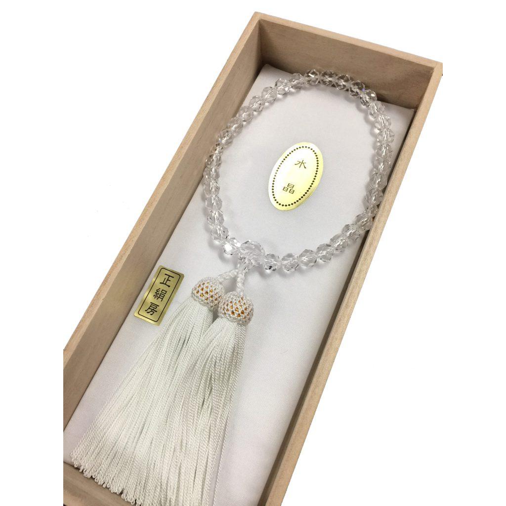 女性用念珠 本水晶切子 7,700円