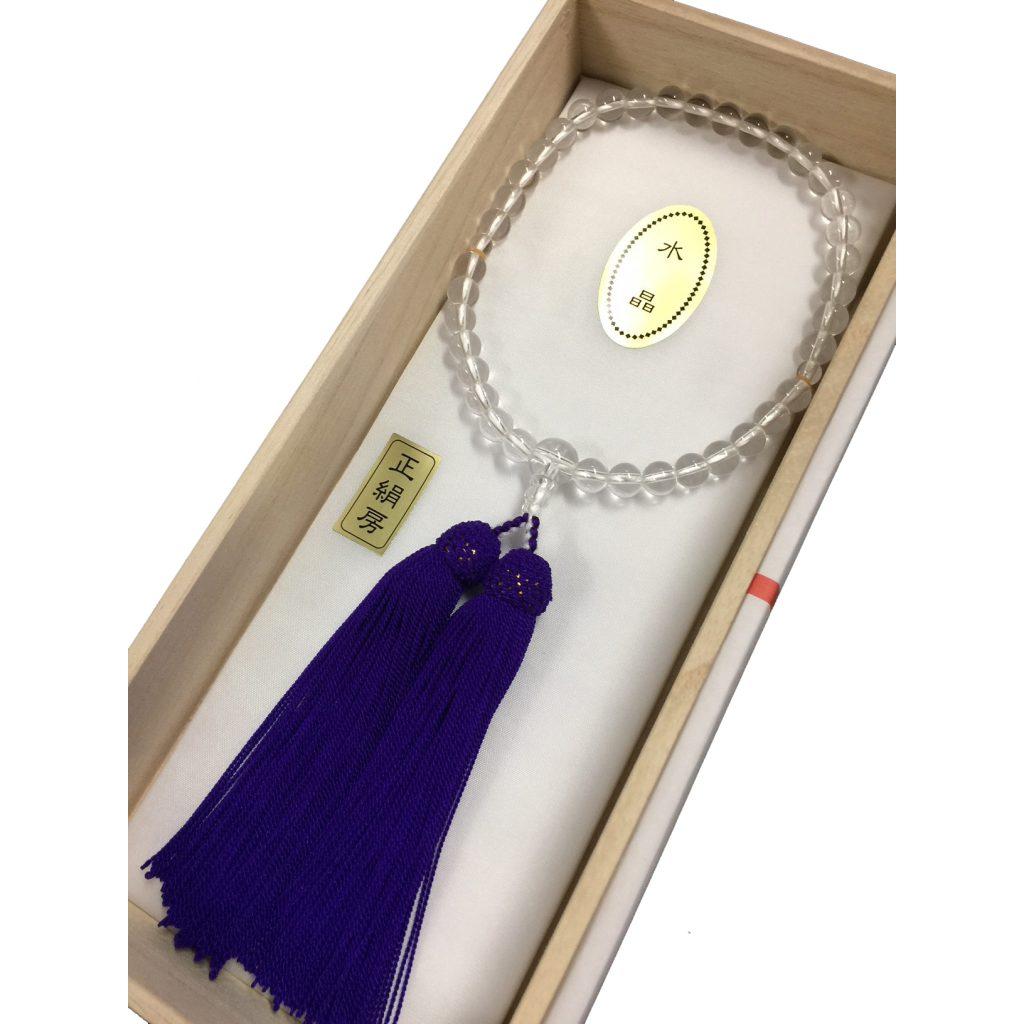 女性用念珠 本水晶丸玉 3,300円
