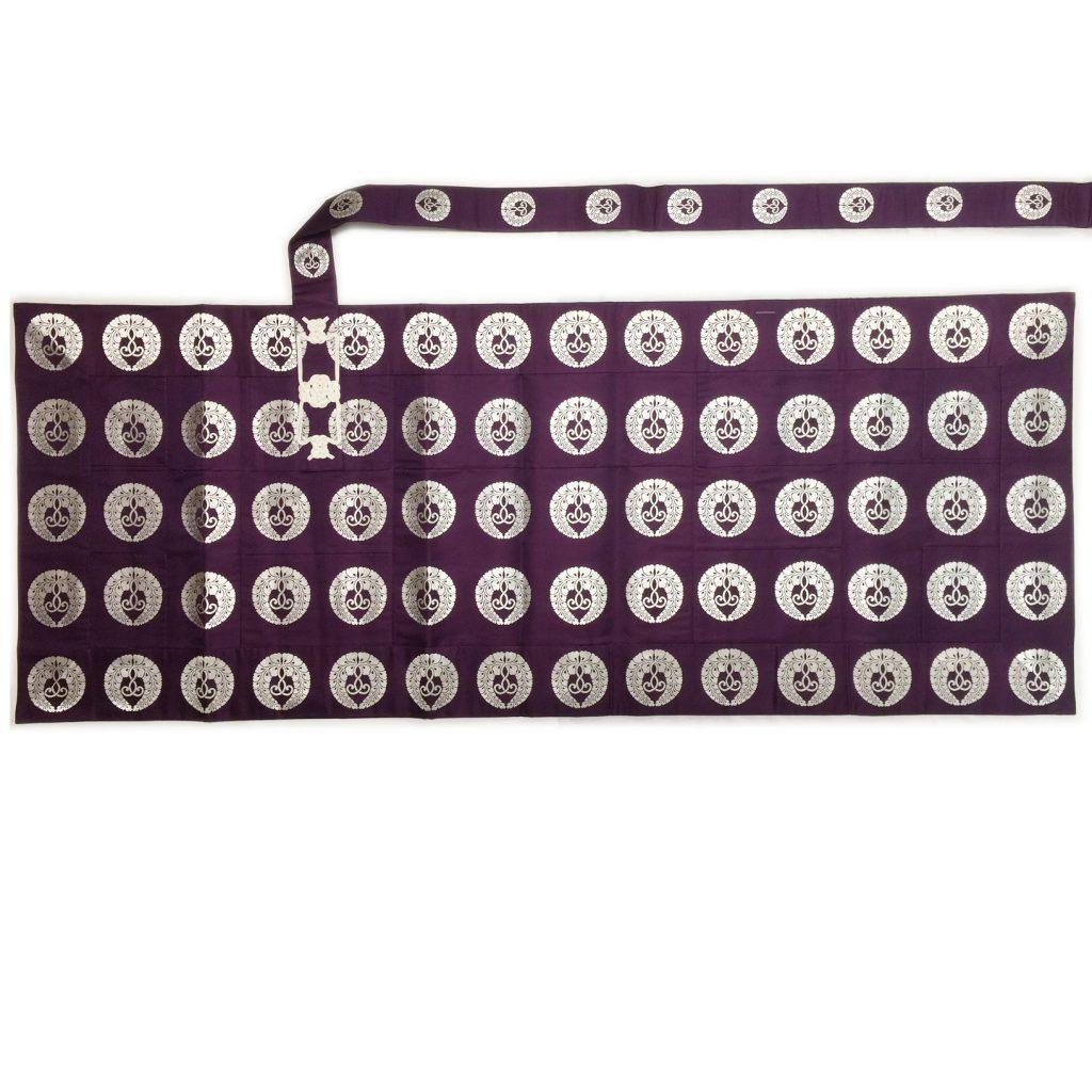 正絹 紫色下藤白紋五条袈裟 99,000円