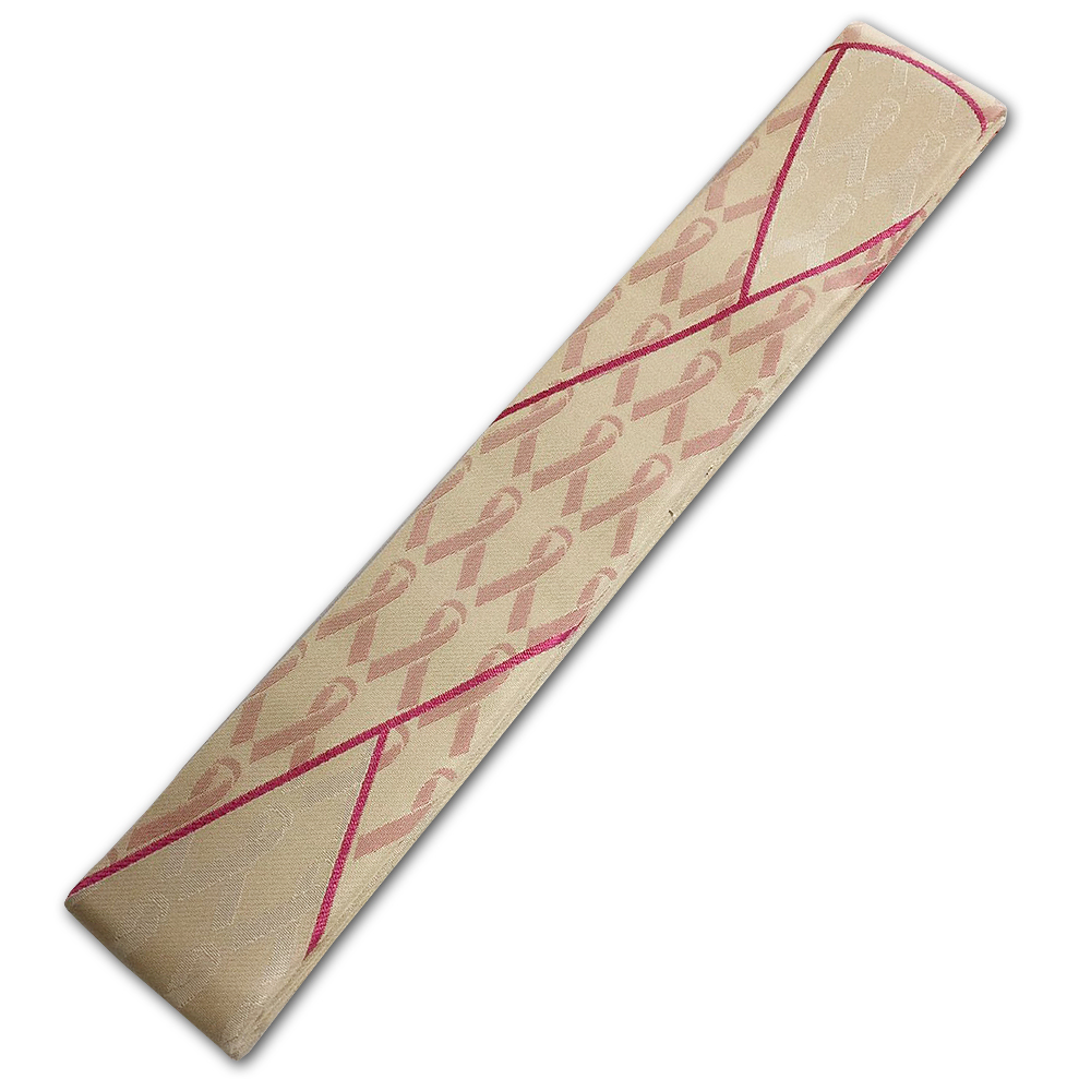 白茶地ピンクリボン大紋 輪袈裟 15,400円
