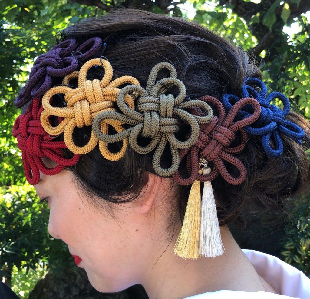 髪飾り 菊結び 7,700円