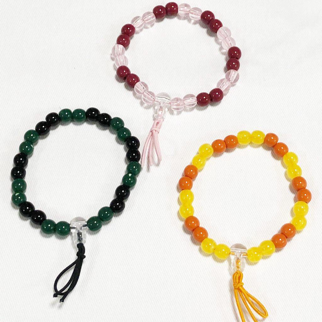 カラー腕輪念珠 2個交互 550円