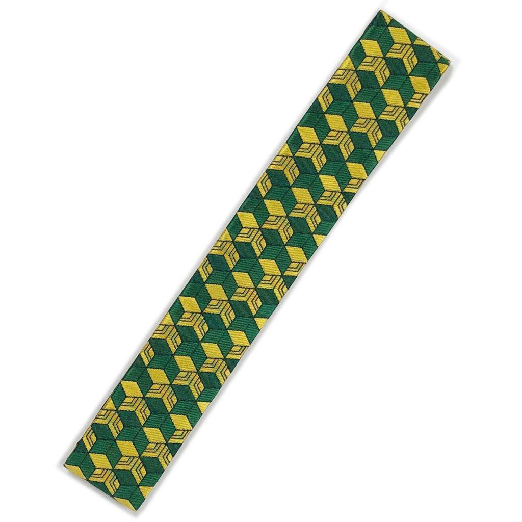 萌黄色幾何学模様 本願寺派用 畳袈裟33,000円