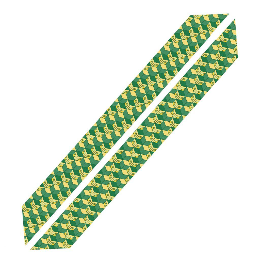 萌黄色幾何学模様 各宗共通輪袈裟(※本願寺派の仕様ではございません)