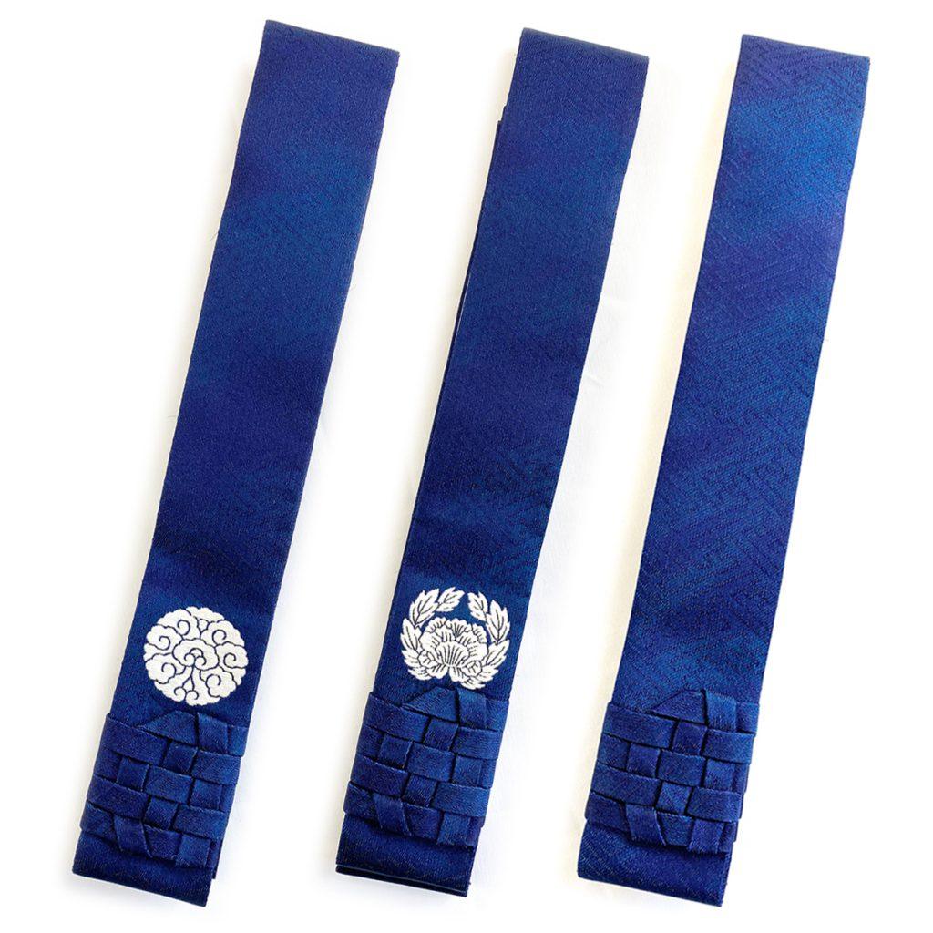 紺色 モヤサヤ型地紋 略式畳袈裟